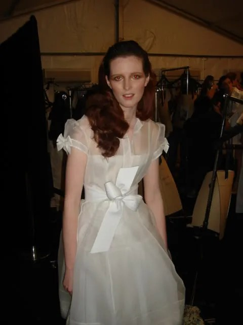 Alice Burdeu, Backstage at Alex Perry