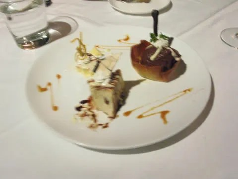 Dessert at Elbert's Steak Room