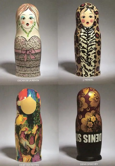 Russian Nested Dolls - Oscar de la Renta, J. Mendel, Dries Van Noten and Denis Simachev