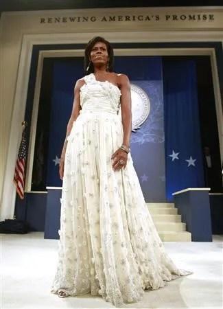 Michelle Obama's inauguration ball dress by Jason Wu.