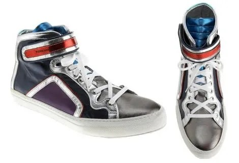 Pierre Hardy Metallic High Top sneakers