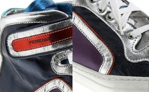 Pierre Hardy Limited Edition Metallic Colorama High Tops Sneakers