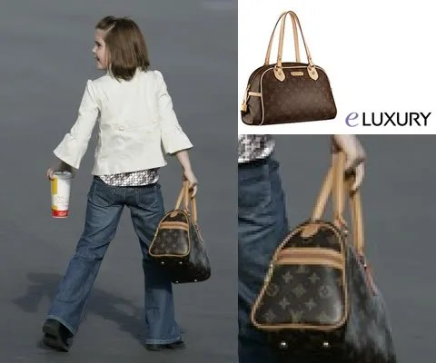 7-year old Piper Palin carying a Louis Vuitton handbag.