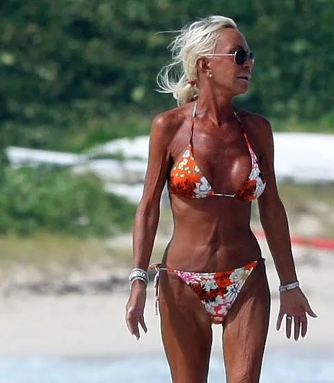 Donatella Versace on vacation in St Barts