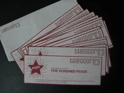 Theodore's Gift Certificates