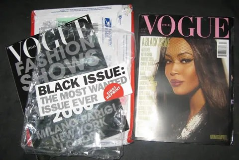 Naomi Campbell cover, Vogue Italia July 2008: A Black Issue
