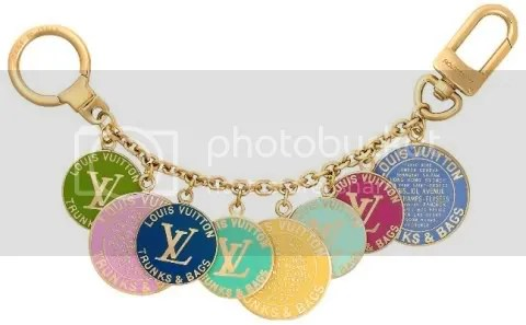 Louis Vuitton Globe Charm Chains Key Ring