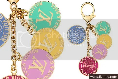 Louis Vuiton Globe Charm Key Ring