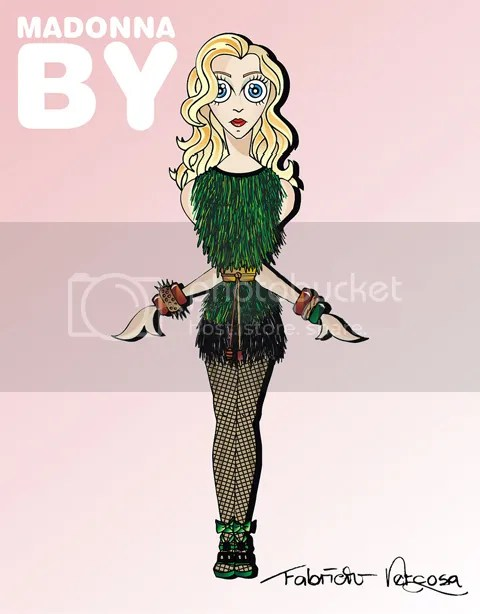 Madonna in Louis Vuitton by Fabricio Vercoza
