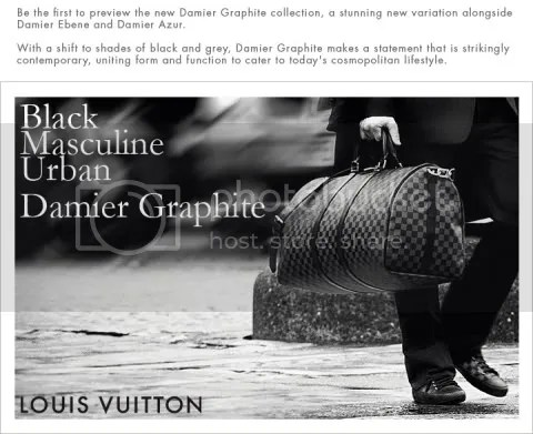 Louis Vuitton Presents Damier Graphite