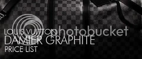 Louis Vuitton Damier Graphite Price List