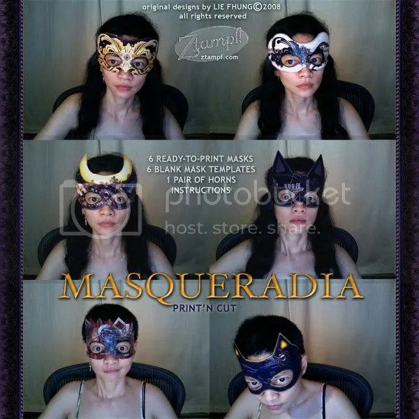 Masqueradia PrintN Cut Mask Templates Set