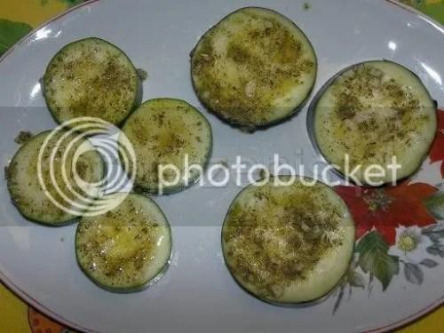 Cukinia i bakłażan z grilla wegetarianskie warzywa szybkie latwe grillowane  przepis foto