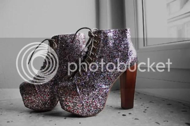 Glitter Platform Boots Jeffrey Campbell