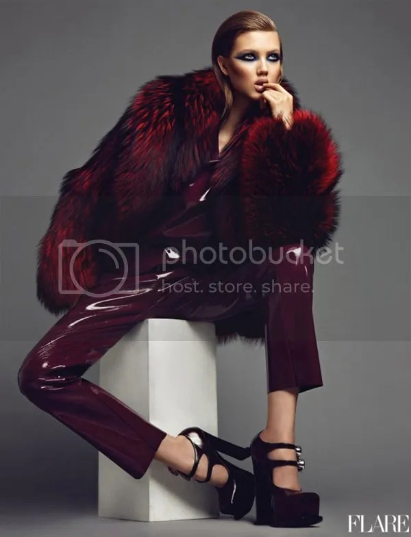 Oxblood Fur Jacket