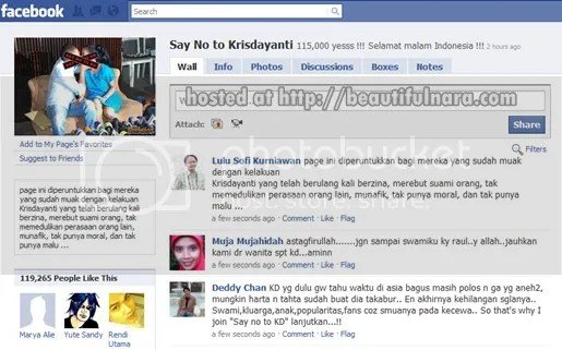 facebook say no to kris dayanti