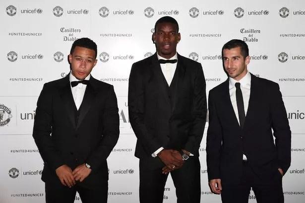 Memphis Depay, Paul Pogba and Henrikh Mkhitaryan