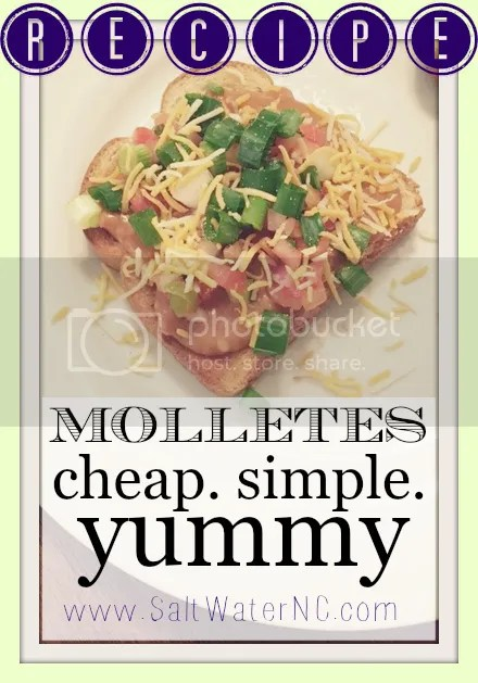 Recipe | Molletes | A new recipe on The Salt Water Blog