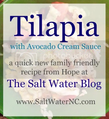 Tilapia Bowls with Avocado Cream Sauce | A new recipe from Hope at the Salt Water Blog!