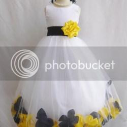 Yellow white flower girl dresses dream wedding ideas around the world black and yellow flower girl dresses gallery flower decoration ideas mightylinksfo