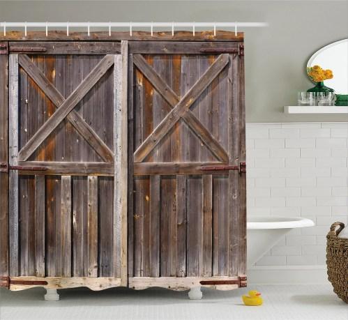 Medium Of Rustic Shower Curtains