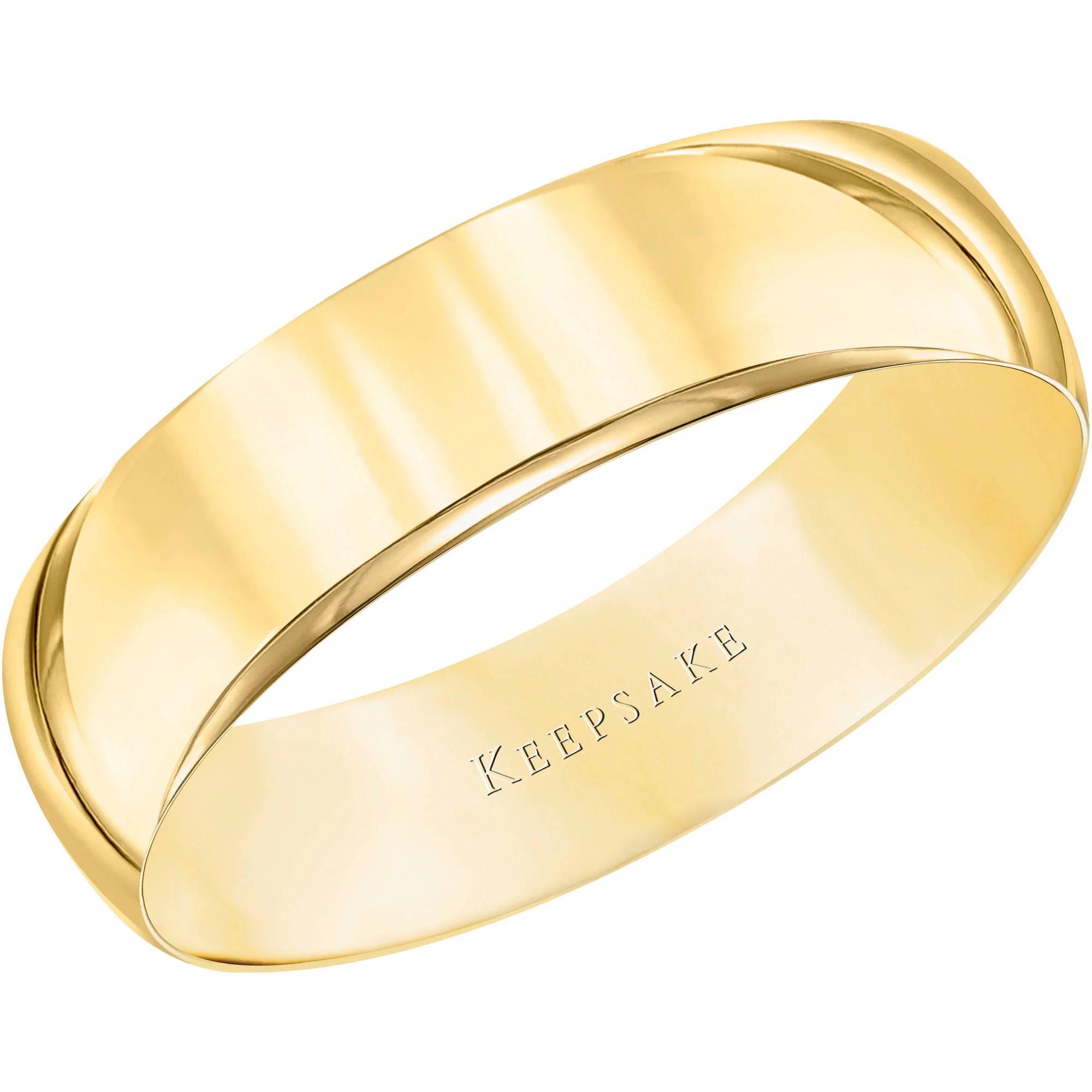 gold wedding bands Keepsake 10kt Yellow Gold Wedding Band With High Polish Finish 5mm