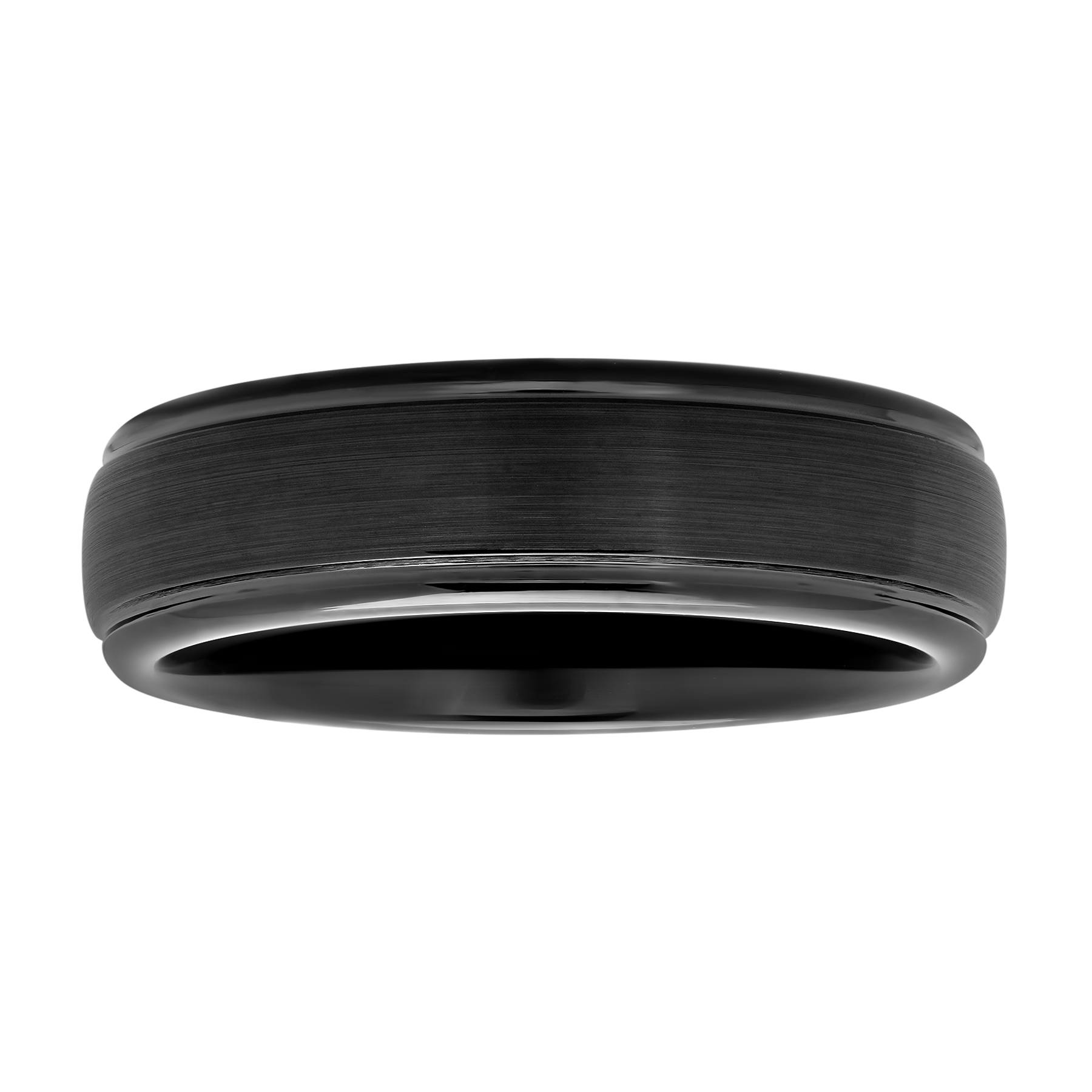 hinged wedding ring Men s Black IP Tungsten 6MM Comfort Fit Domed Wedding Band Mens Ring