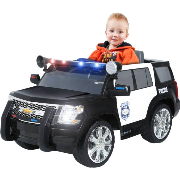Rollplay Chevy Tahoe Police SUV 6 Volt Battery Powered Ride On     Rollplay Chevy Tahoe Police SUV 6 Volt Battery Powered Ride On   Walmart com