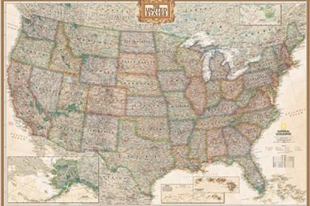 national geographic re00620115 united states executive map