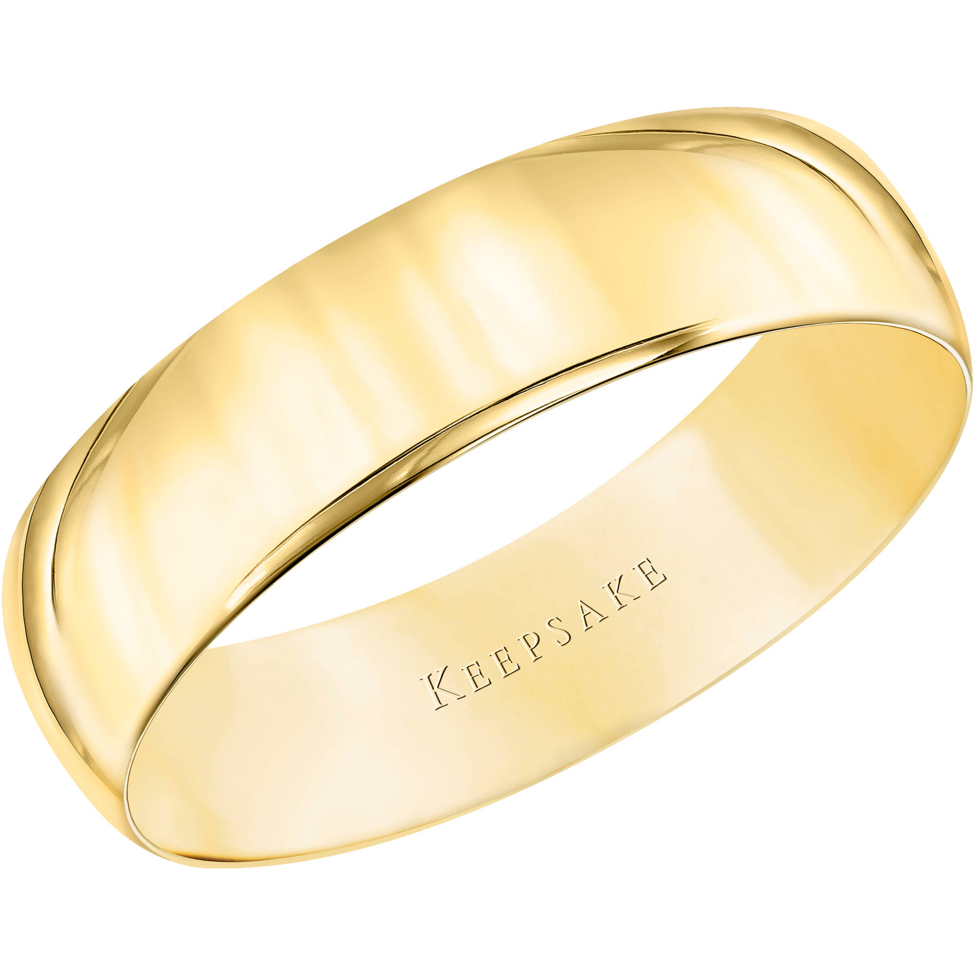 flexible wedding ring Keepsake 10kt Yellow Gold Wedding Band With High Polish Finish 5mm