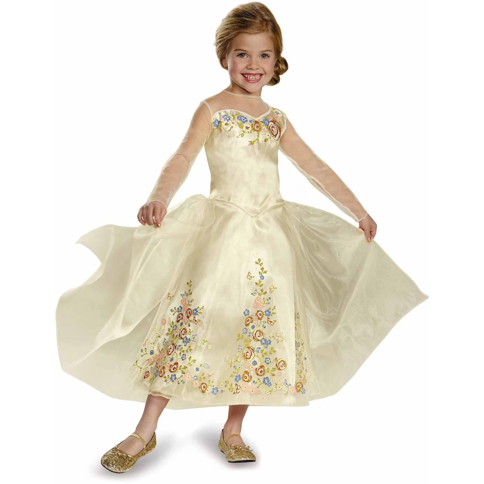 cinderella wedding dress disney movie cinderella wedding dresses Cinderella Movie Wedding Dress Deluxe Child Costume Walmart