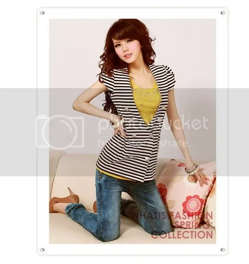 H8982 swept personality - deductions small bud sleeve stripes outside set