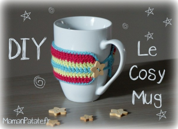 tuto diy cosy mug crochet