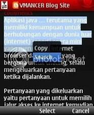 opera mini-copy paste texts-vmancer