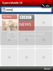 opera mobile 10-start page-visual bookmark-vmancer