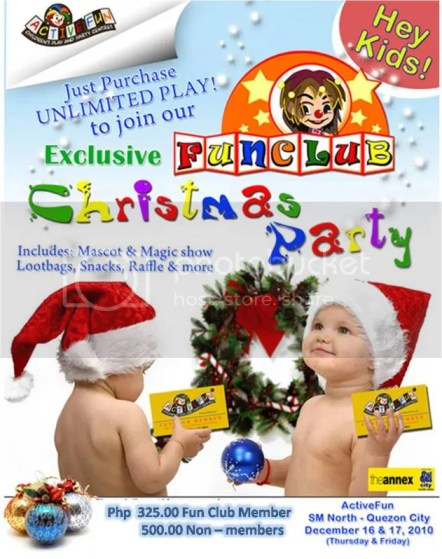 Active Fun Christmas Party SM north edsa