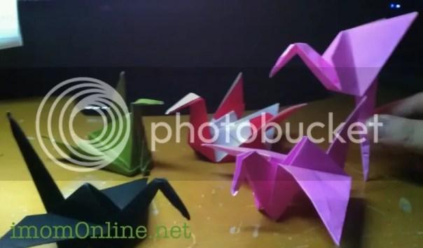 paper cranes origami