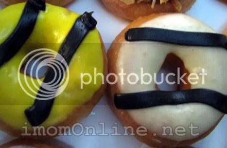 Krispy Kreme mini doughnuts lemon glaze vanilla glaze