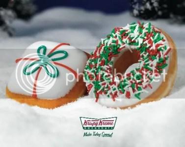Krispy Kreme Christmas Doughnuts gift wreath