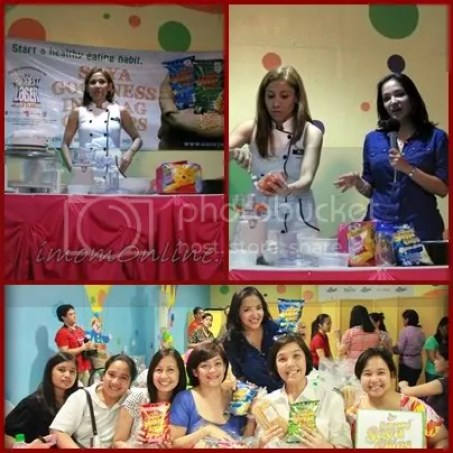 Healthy lunch cooking demo with Nadine Tengco Apples Morales Soyami Chips