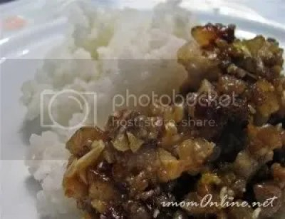 sisig with rice