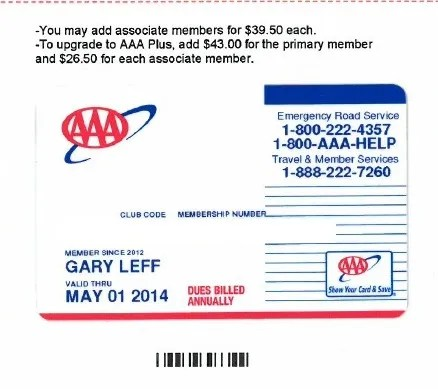 AAA offers a club membership that allows you to get miles of free towing, free emergency fuel, and other money-saving benefits. The company offers a $5 discount when you sign up .