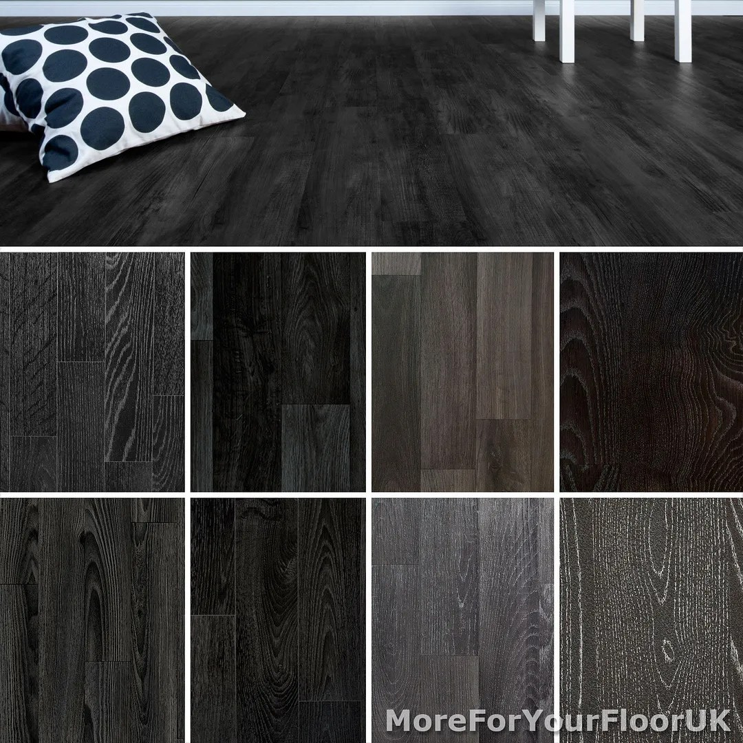 vinyl flooring 5m wide vinyl kitchen flooring Black Wood Plank Vinyl Flooring Non Slip Vinyl Flooring Lino Kitchen Bathroom
