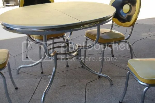 chrome dinette set vintage 1950's 50s