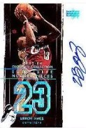 2003/04 Upper Deck Exquisite Basketball LeBron James Number Pieces