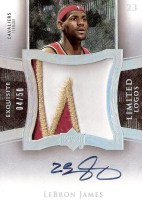 LeBron James Exquisite Limited Logos Patch Auto