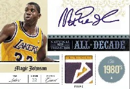09/10 Panini National Treasures Magic Johnson All Decade