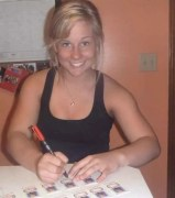 Shawn Johnson Signing 2010 Topps Allen & Ginter Cards