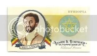 Selassie Topps Allen & Ginter