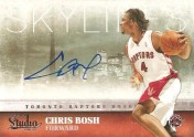 09/10 Panini Studio Skylines Auto Chris Bosh